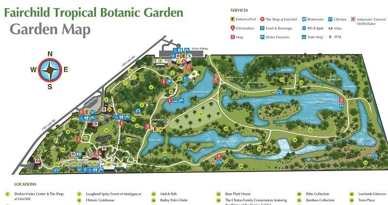 Fairchild Tropical Botanic Garden em Coral Gables: lago