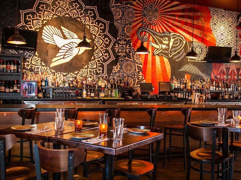 Restaurante Wynwood Kitchen & Bar em Miami: área do bar