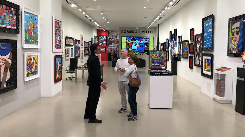 Galeria do Romero Britto em Miami: exposição