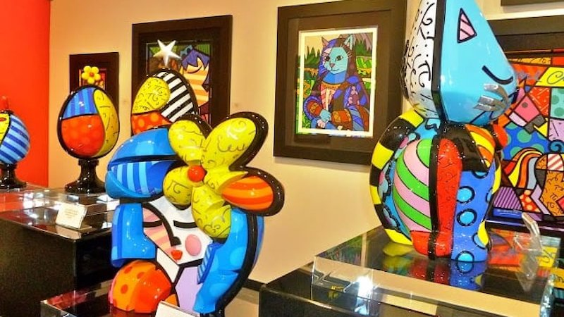 Galeria do Romero Britto em Miami: produtos