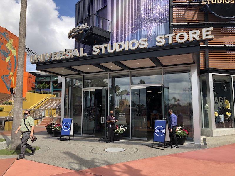Reabertura da Universal CityWalk em Orlando: reabertura da loja Universal Studios Store