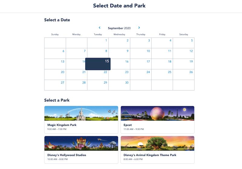 Como reservar sua visita aos parques da Disney Orlando: passo 3