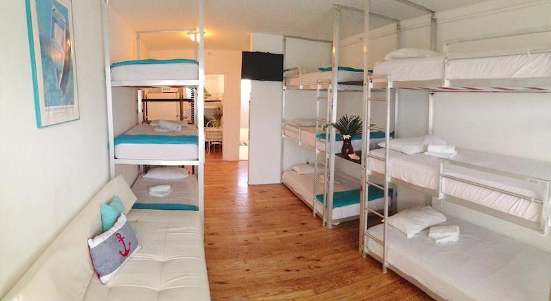 Melhores hostels em Miami: quarto do Bikini Hostel