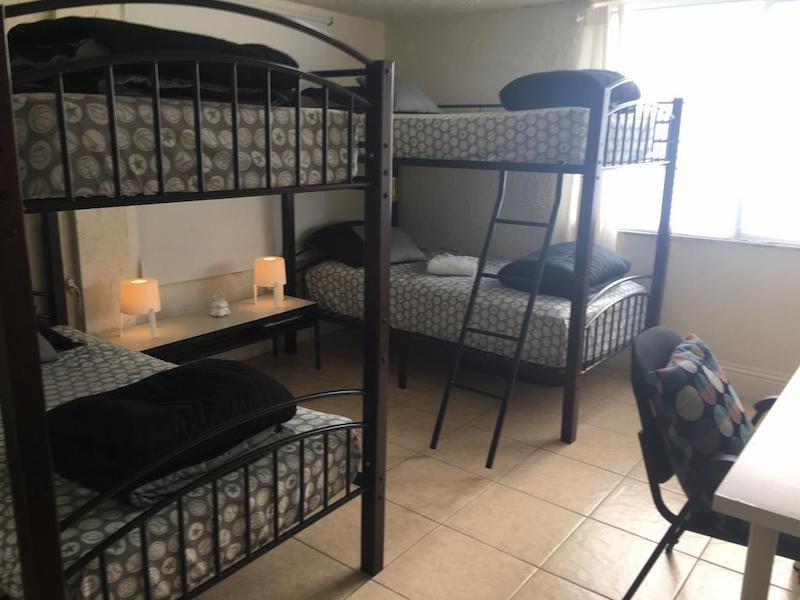 Melhores hostels em Miami: quarto do hostel My Sweet Havana