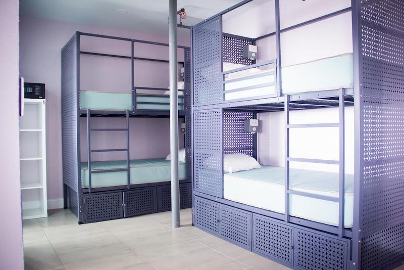 Melhores hostels em Miami: quarto do Rock Hostel
