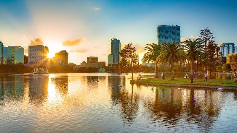 Eola Lake em Orlando
