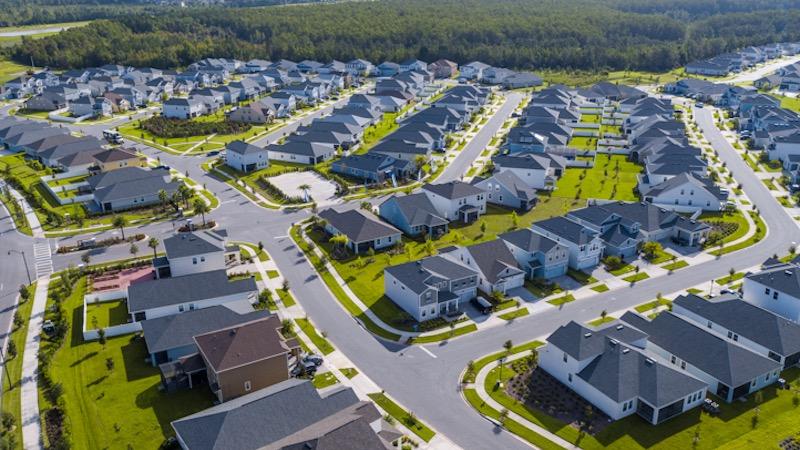 Vista das casas no Condomínio Solterra Resort em Orlando