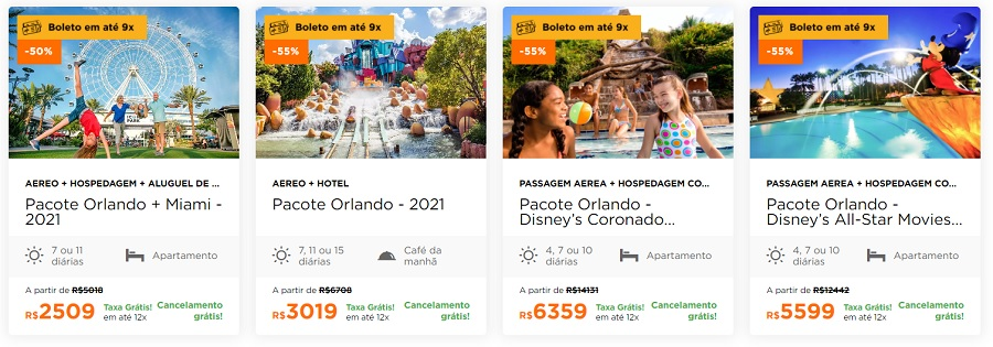 Pacotes do Hurb de Orlando e Disney