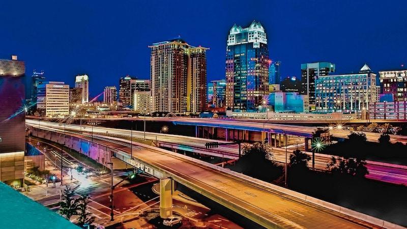 Downtown Orlando à noite