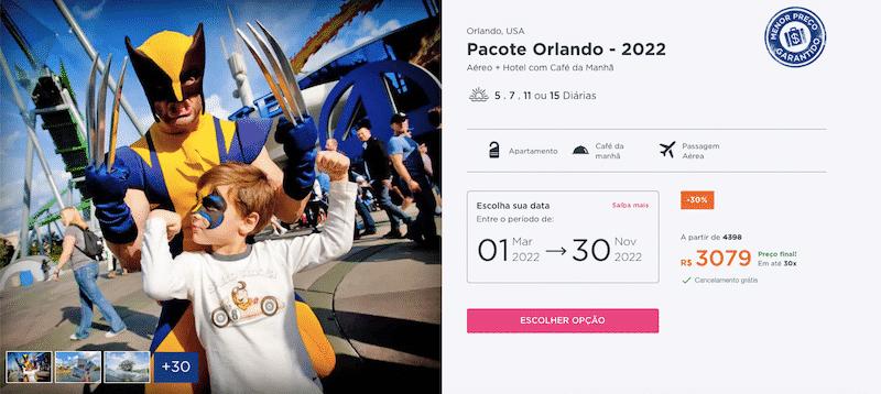 Pacote Hurb para Orlando 2022