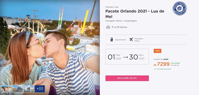 Pacote Hurb para Orlando - Lua de Mel