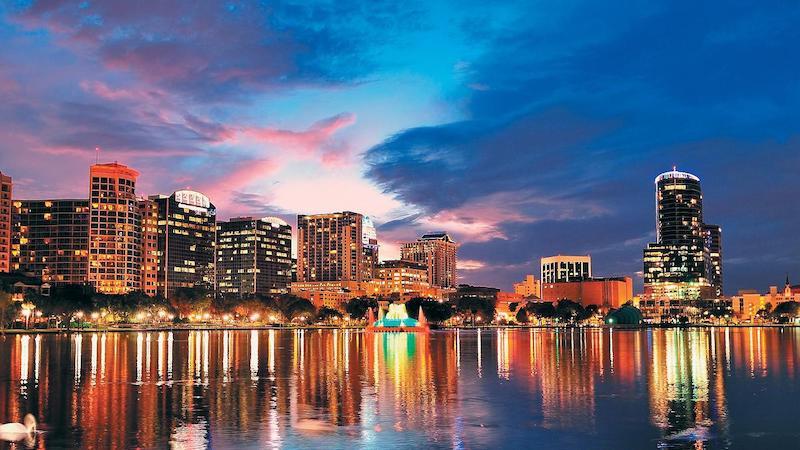 Paisagem de Orlando à noite