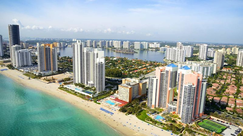 Vista da cidade de Miami