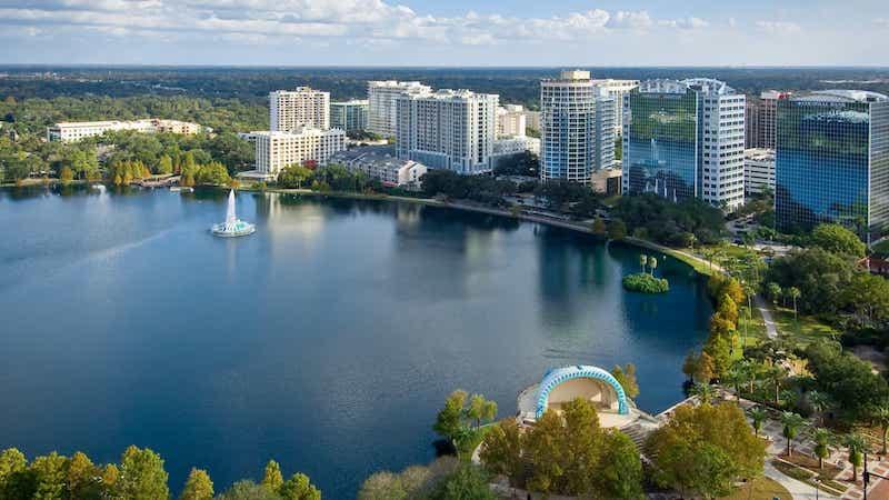 Vista da cidade de Orlando