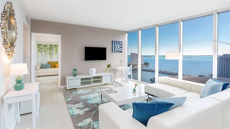 Interior do apartamento em Miami