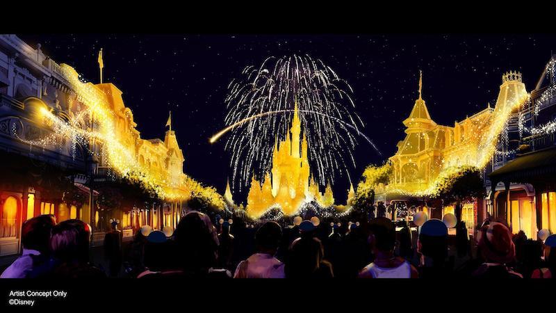 Parque Magic Kingdom no aniversário da Disney em Orlando