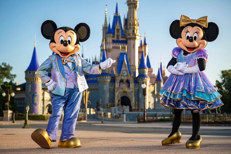 Mickey e Minnie no aniversário de 50 anos da Disney em Orlando
