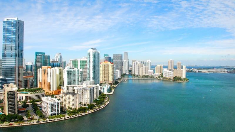 Vista da região de Miami