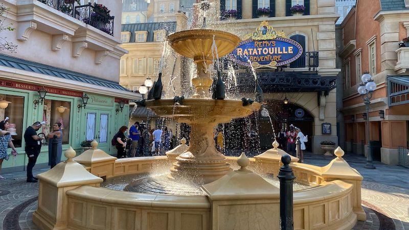Fonte de Ratatouille no Epcot da Disney Orlando