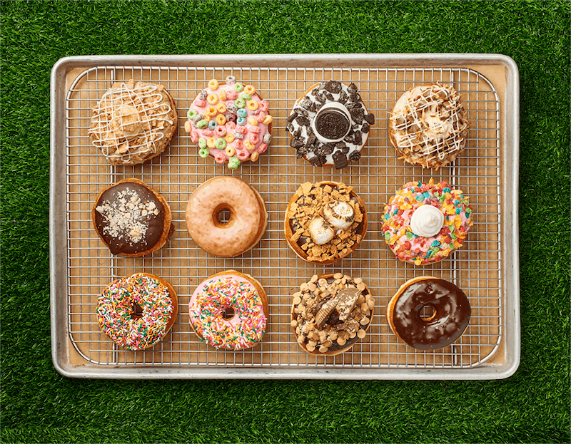 Sabores de donuts na Everglazed Donuts & Cold Brew na Disney Springs Orlando