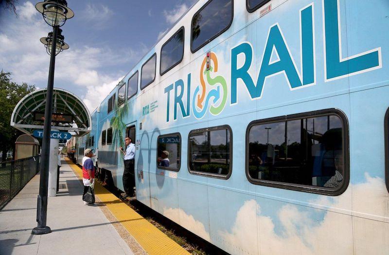 Trem Tri-Rail em Boca Raton