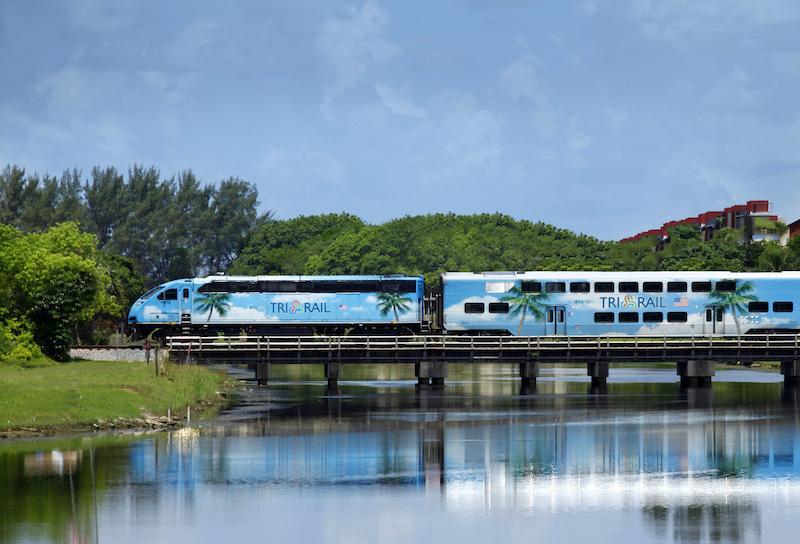 Trem Tri-Rail em Fort Lauderdale